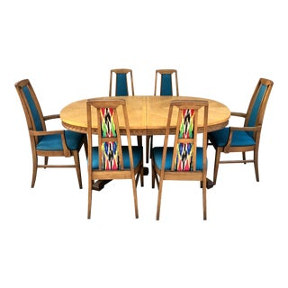 Mid-Century Modern Dining Set - 9 Pieces For Sale