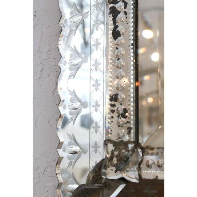 Large Rectangular Venetian Mirror For Sale - Image 9 of 12