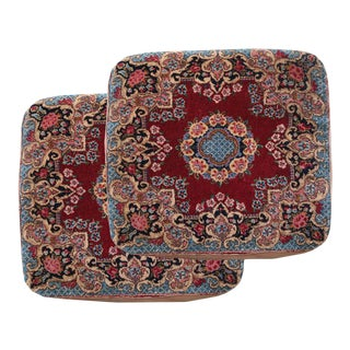 Antique Persian Mat Pillows - a Pair For Sale