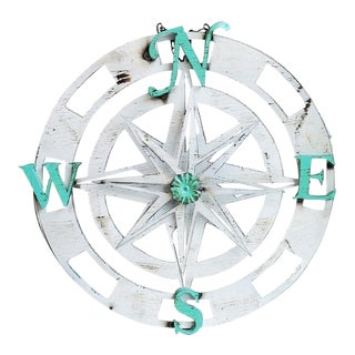 Three Dimensional Wall Hanging Compass With Rotating Star For Sale