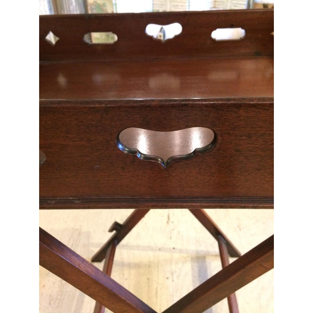 Traditional English Traditional Mahogany Butler's Tray Table For Sale - Image 3 of 11