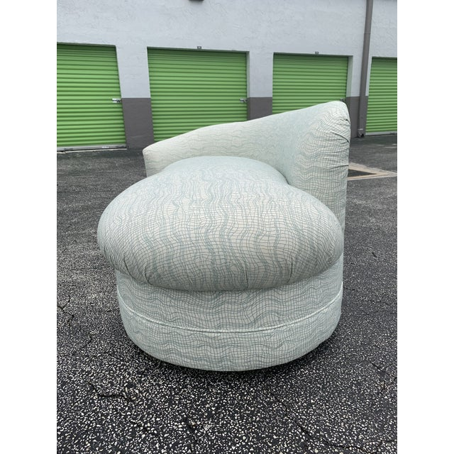 Vladimir Kagan Style Petite Serpentine Cloid Sofa For Sale - Image 9 of 12