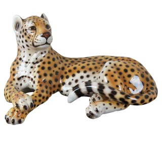 Intrada Laying Safari Cheetah Ceramic Figure For Sale