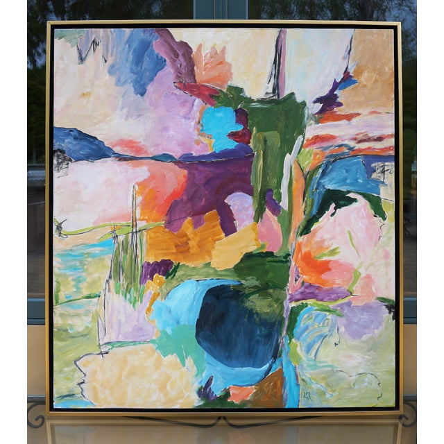 """Canvas Abstract Landscape by Laurie MacMillan, """"Almost Somewhere"""" For Sale - Image 7 of 7"""