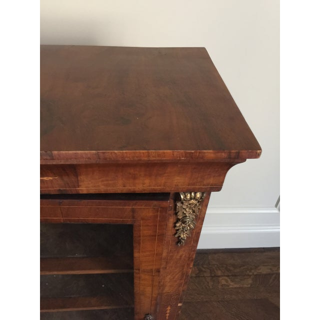 Victorian Inlaid Walnut Low Bookcases - a Pair For Sale - Image 10 of 11