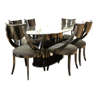 Mid Century Modern Dining Set Table 6 Chairs Pietro Constantini Ello Italy 1970s For Sale