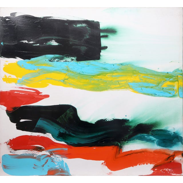 """Bolder Strokes 27"" Painting by Julia Marc For Sale"