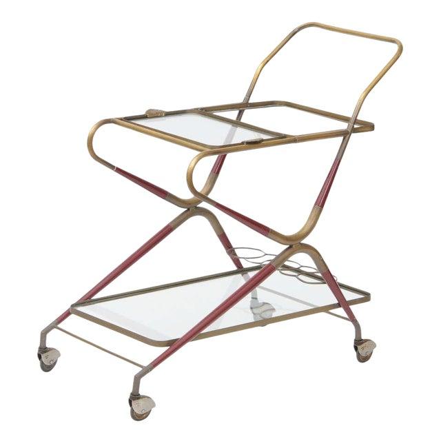 Cesare Lacca Italian Bar Cart For Sale