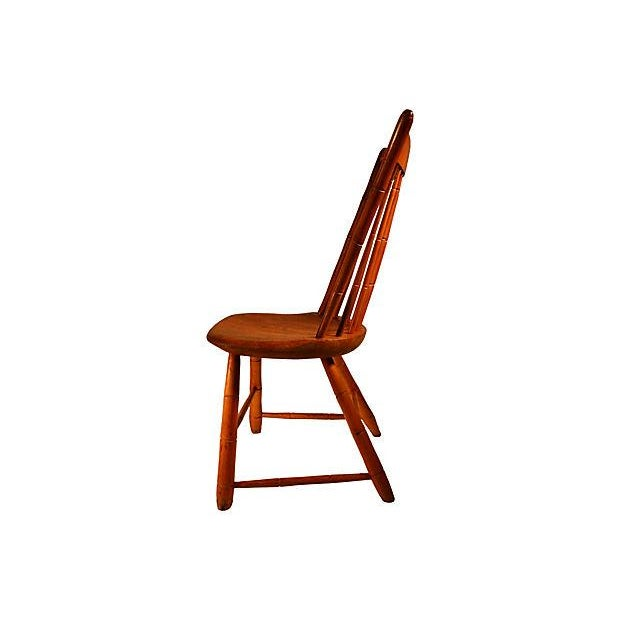 Antique Spindle-Back Barn Chair - Image 2 of 3