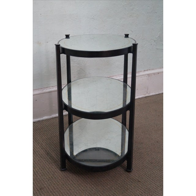 Country Jonathan Charles Luxe Collection 3 Tier Side Table For Sale - Image 3 of 10