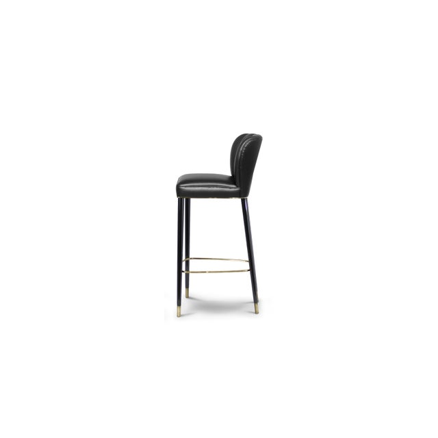 Modern Covet Paris Dalyan Bar Chair For Sale - Image 3 of 5