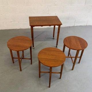 Danish Modern Poul Hundevad Teak Nesting Folding Side Tables - 4 Pieces Preview