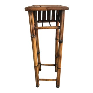 Vintage Handmade Bamboo Plant Stand For Sale