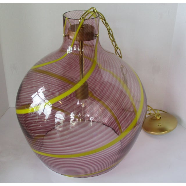 Contemporary Oversize Italian Glass Pendant For Sale - Image 3 of 7