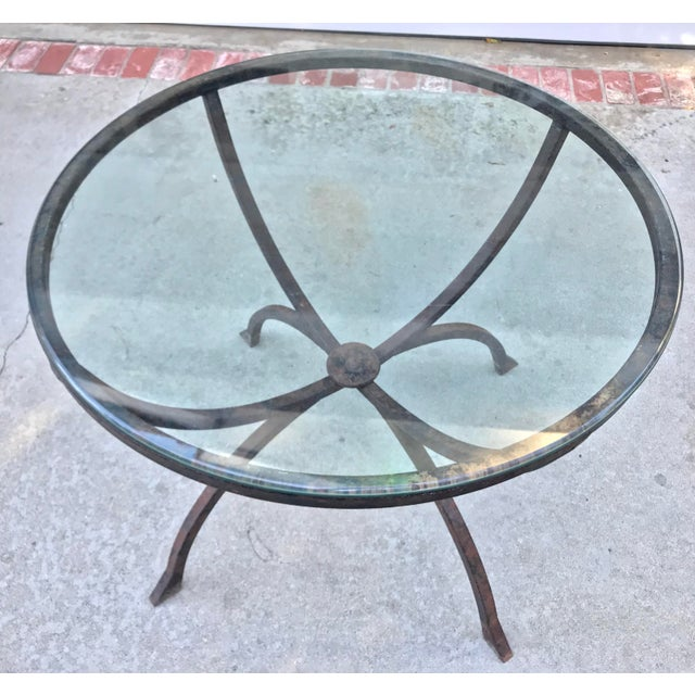 Sculptural Iron & Glass Table For Sale - Image 4 of 6