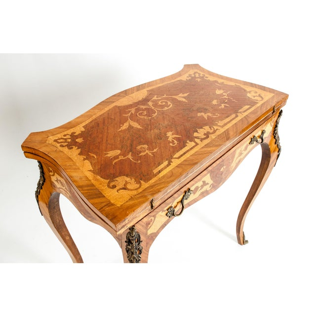 French Kingwood / Mounted Bronze Details Card Table For Sale - Image 3 of 13