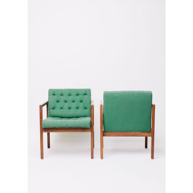 Between the amazing saturated color and the simple mid-century shape, these chairs are ridiculously good as is. They are...