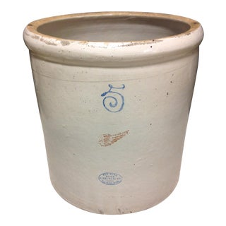 Red Wing 5 Gallon Stoneware Crock For Sale