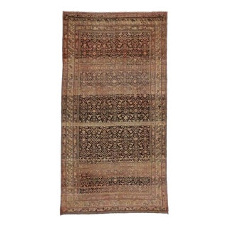 Antique Persian Malayer Rug with Modern Design and Industrial Aesthetic