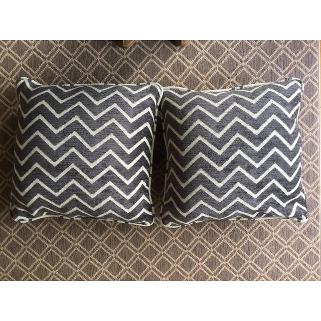 Schumacher Chenille Pillows - A Pair For Sale - Image 4 of 4