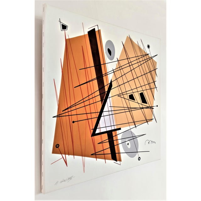 """Abstract Atsuko Okamoto Abstract Serigraph A. P. """"Convergence 2"""" Signed For Sale - Image 3 of 8"""