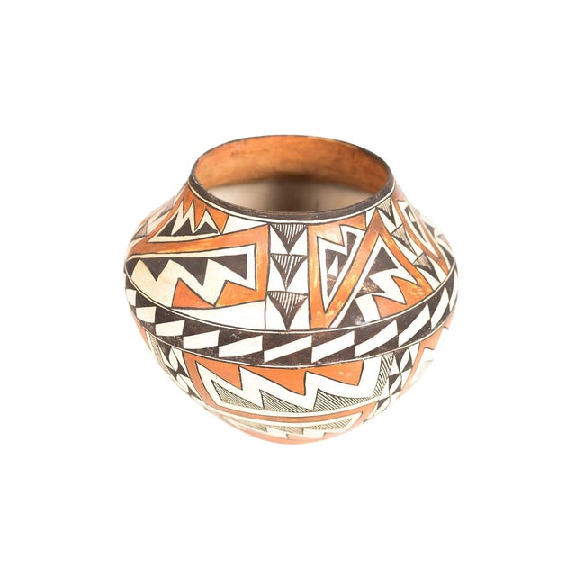 Antique Native American Polychrome Pottery Jar Acoma For Sale