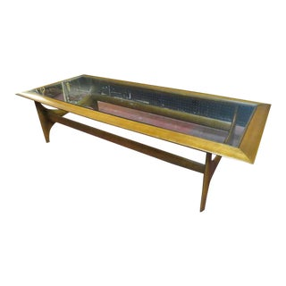 1960s Vintage Mid Century Modern Adrian Pearsall by Lane Walnut Coffee Table For Sale