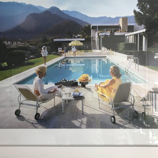 Framed Slim Aarons Poolside Gossip Print For Sale In San Francisco - Image 6 of 6