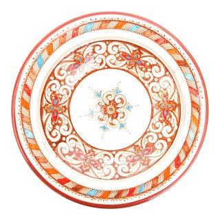 Moroccan Handpainted Brown Ceramic Plate