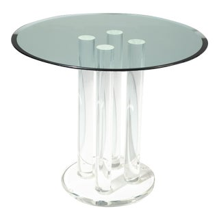 1970s Space Age Lucite Dining or Center Table For Sale