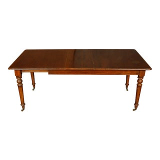 Vintage English Dining Table with One Leaf For Sale