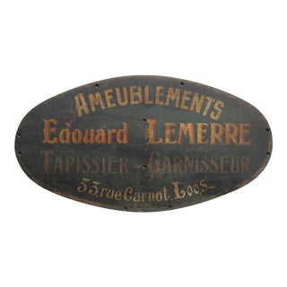 Antique French Furniture Store Sign For Sale