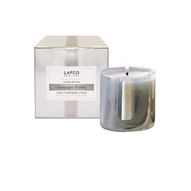 Modern LAFCO Champagne Holiday Limited Edition Signature Candle, 15.5 oz For Sale - Image 3 of 3