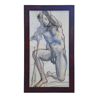 Original Circa 1960s Male Nude Art Study For Sale