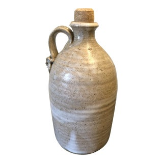 1970s Vintage Stoneware Pottery Jug by Fred Yokel For Sale