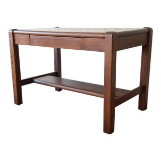 Antique American Arts & Crafts Period Mission Oak Desk For Sale