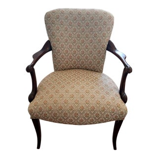 Early 20th Century French Accent Chair With Saber Legs For Sale