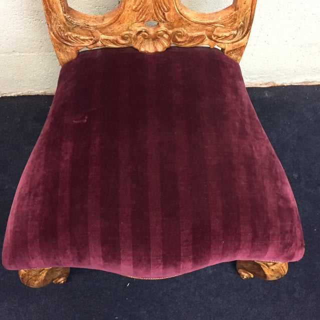 Red Venetian Side Chair - Image 8 of 10