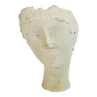 1950s Vintage Bust of Fantoni's Wife Sculpture For Sale
