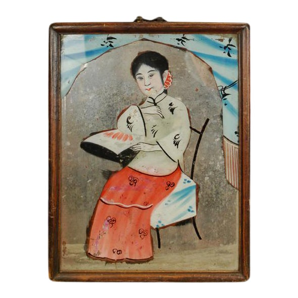 Chinese Reverse Glass Painting For Sale