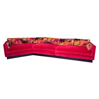 Mid-Century Modern Milo Baughman Style Sectional Sofa For Sale