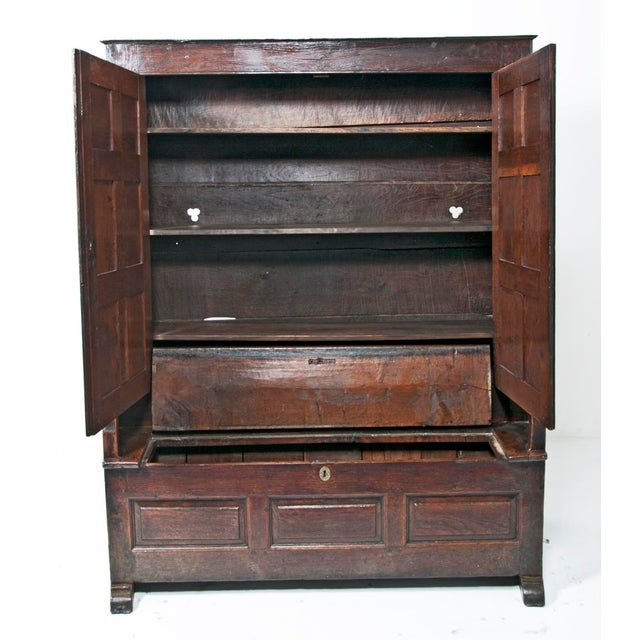 18th Century English Oak Bacon Settle For Sale - Image 4 of 11