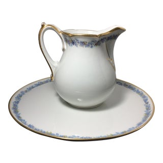 Antique Limoges France Serving Plate and Pitcher - a Pair For Sale