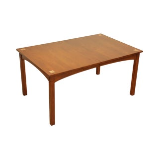 Stickley Mission Collection Cherry Inlaid Harvey Ellis Dining Table (A) For Sale