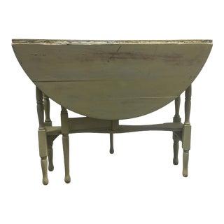 Vintage Rustic Drop Leaf Table For Sale