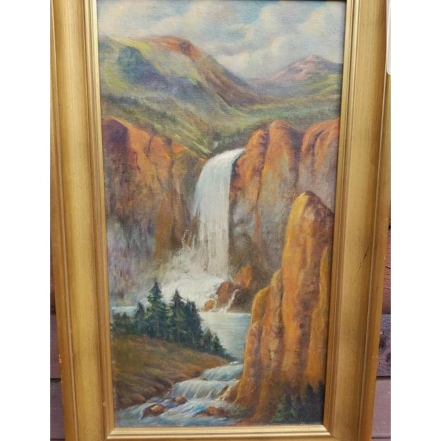 Traditional Early 20th Century Landscape Oil Painting, Framed For Sale - Image 3 of 5
