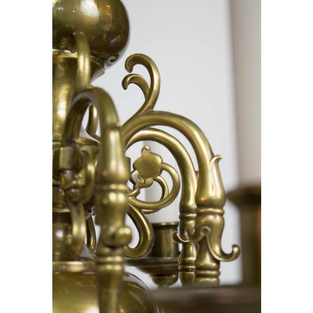 Early 20th Century Dutch Style Eight Arm Chandelier For Sale - Image 9 of 10