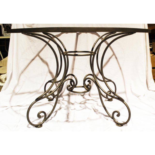 Wrought Steel Dining Table Base For Sale - Image 10 of 10