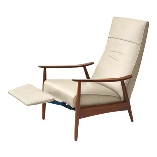 Milo Baughman Leather Reclining Lounge Chair for Thayer Coggin For Sale