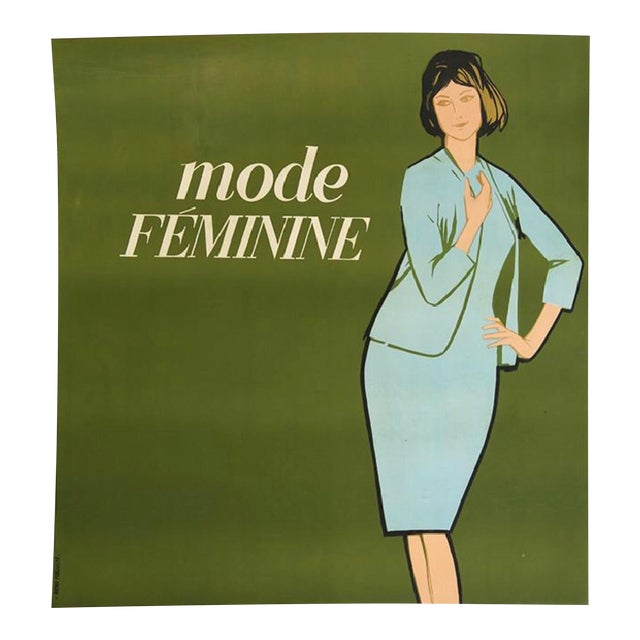 La Mode Feminine Lithograph in Colors by Avenir Publicite France (1960) - Image 1 of 3